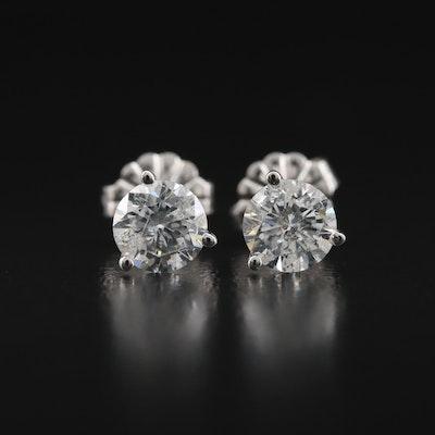 14K 1.01 CTW Diamond Martini Set Stud Earrings