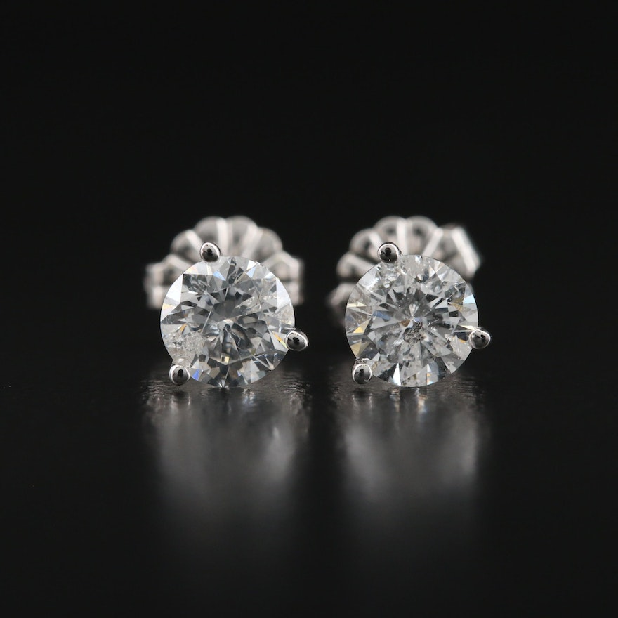 14K 1.01 CTW Diamond Martini Set Stud Earrings