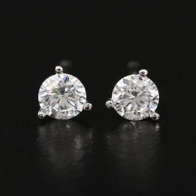 14K 0.49 CTW Diamond Martini Set Stud Earrings