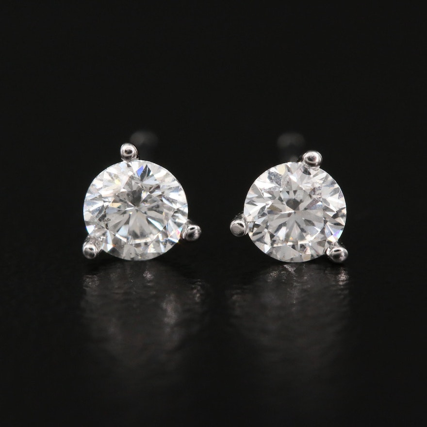 14K 0.49 CTW Diamond Martini Set Stud Earrings