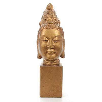 Guanyin Bodhisattva Buddha Bust Composite Sculpture