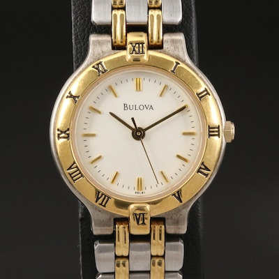 Bulova Bracelet Collection Two-Tone Quartz Wristwatch