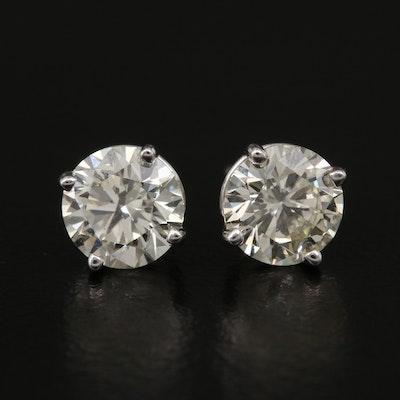 14K 1.54 CTW Diamond Stud Earrings with GIA eReports