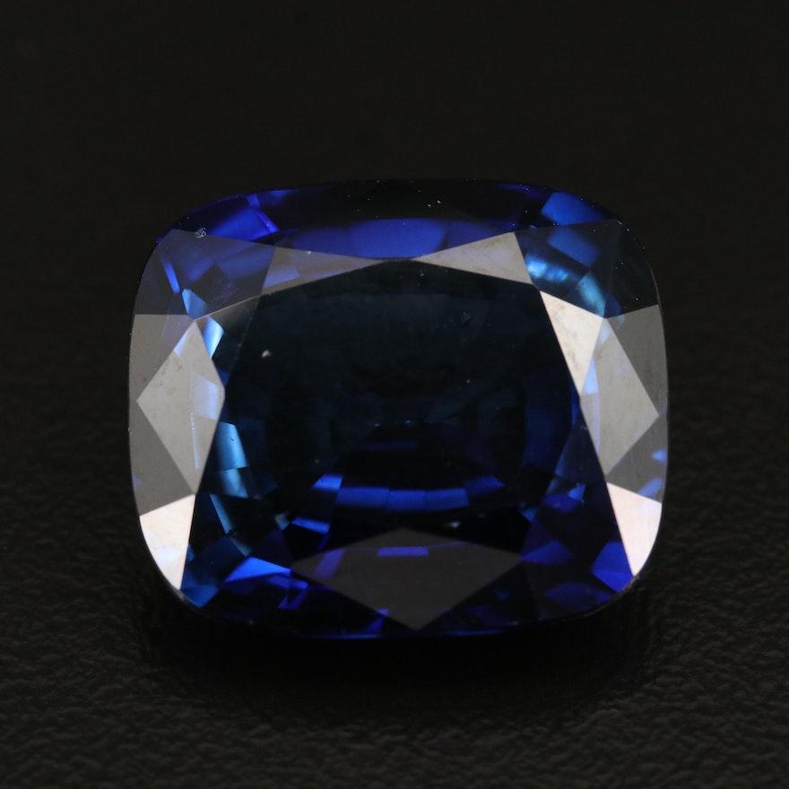Loose 31.61 CT Lab Grown Sapphire