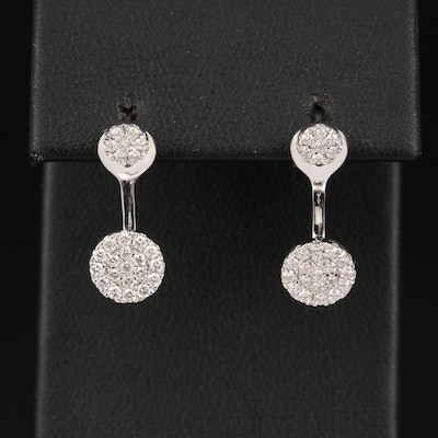 Gabriel & Co. 14K Diamond Cluster Studs and Earring Enhancers