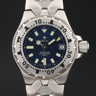"""Zodiac """"Marine Life"""" 200M Stainless Steel Wristwatch"""