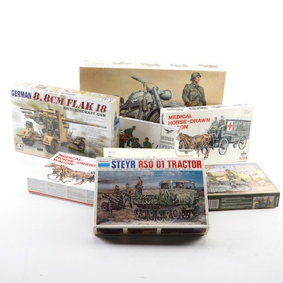 Esci, Peerless, IBG, and AFV Unassembled WWII Military Vehicle Model Kits