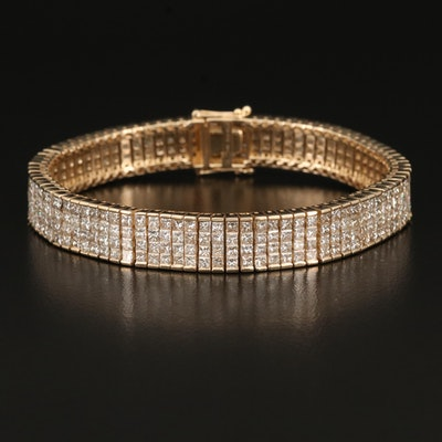 14K 18.65 CTW Diamond Invisible Set Bracelet