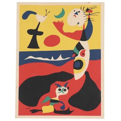 "Serigraph after Joan Miró ""L'Été,"" Mid to Late 20th Century"