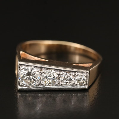 14K 1.04 CTW Graduated Diamond Ring