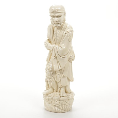 Pocelain Chinese Figural Sculpture