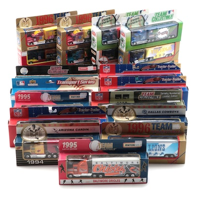 Limited Edition MLB and NFL Team Collectible Diecast Trucks