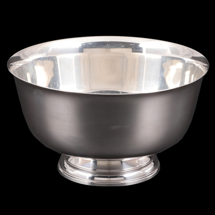 Raimond Paul Revere Reproduction Sterling Silver Bowl, Mid to Late 20th Century