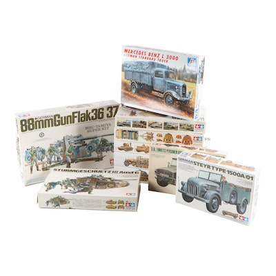Tamiya, Italeri WWII German Military Vehicle Model Kits