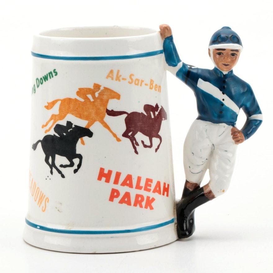 Horse Racing Tracks Decorated Ceramic Mug