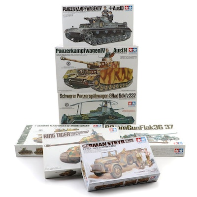 Tamiya Unassembled WWII German Military Vehicle Model Kits