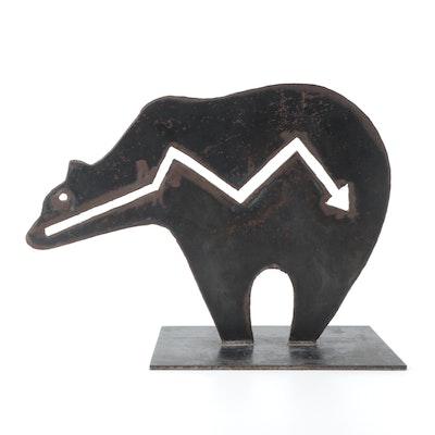 E. Martin Reynolds Bear Form Metal Sculpture, 20th Century