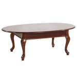 Queen Anne Style Oval Coffee Table, Late 20th or 21st Century