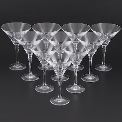 Crystal Martini Glasses, Late 20th to 21st Century