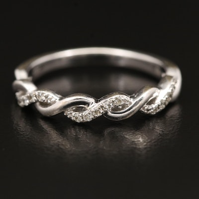10K Diamond Twisted Band