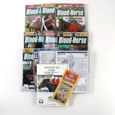 """Bob Baffert and Others Signed """"The Blood-Horse"""" Magazines & Racing Programs"""