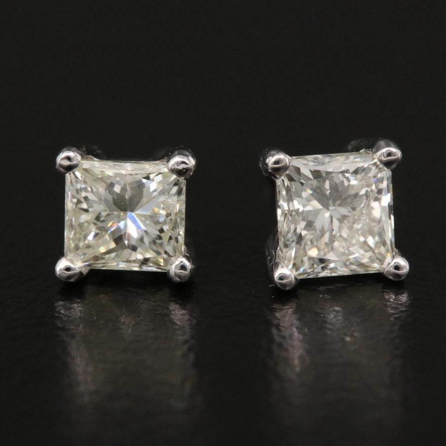 14K 0.89 CTW Diamond Stud Earrings
