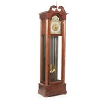 Federal Style Walnut Grandfather Clock with Selsi Works, 20th Century