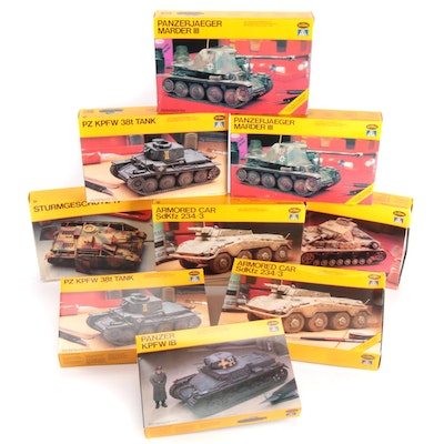 Testors Unassembled WWII German Military Vehicle Model Kits