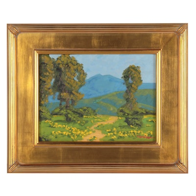 "Marc A. Graison Landscape Oil Painting ""Touch of Spring,"" 2021"
