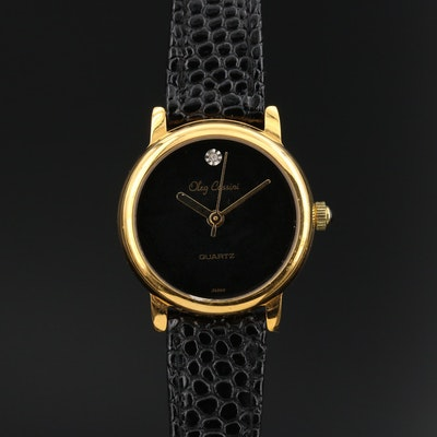 Oleg Cassini Diamond Wristwatch