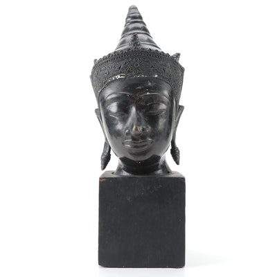 Thai Style Bronze Buddha Bust