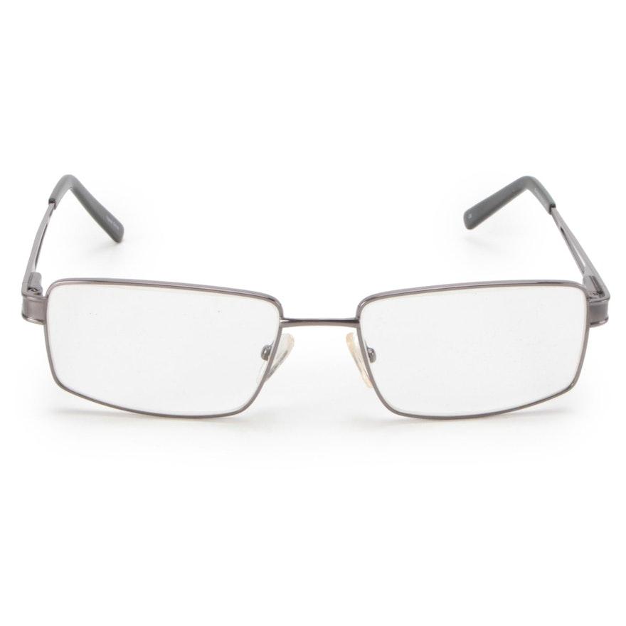 Capri Optics FX104 Gunmetal Prescription Eyeglasses with Other Slip Case