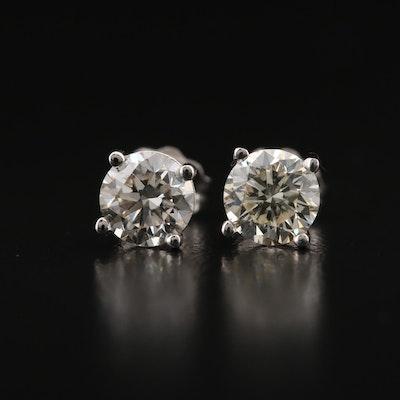 14K 1.26 CTW Diamond Stud Earrings with GIA eReports