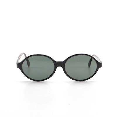 Bottega Veneta Dark Blue Oval Sunglasses