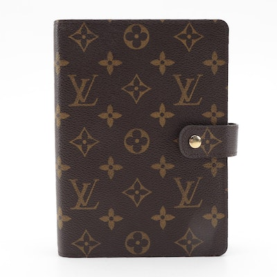 Louis Vuitton Voyage Agenda Cover and Accessories in Monogram Canvas
