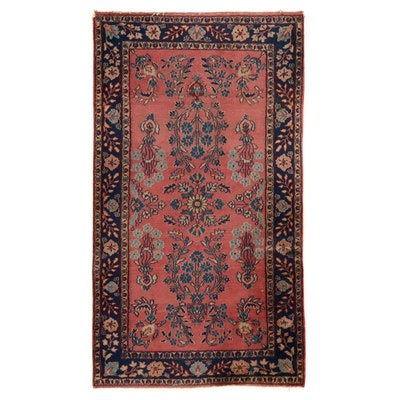 3' x 5'3 Hand-Knotted Persian Sarouk Area Rug