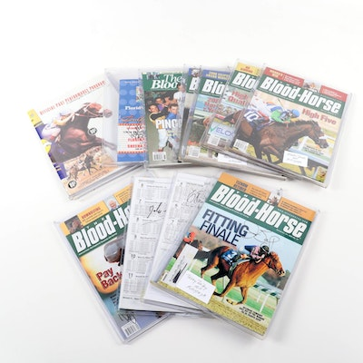"""Laffit Pincay Jr and Others Signed """"The Blood-Horse"""" Magazines & Racing Programs"""