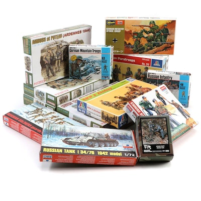 Dragon, Hasegawa, Esci, Italeri and Other Unassembled WWII Model Kits