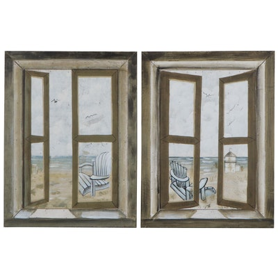 Contemporary Acrylic Paintings of Windows, 21st Century