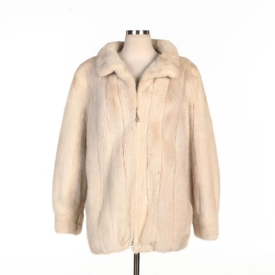 Pearl Mink Fur Zipper Front Jacket for Kotsovo's