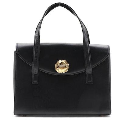 Givenchy Black Leather Dual Handle Bag