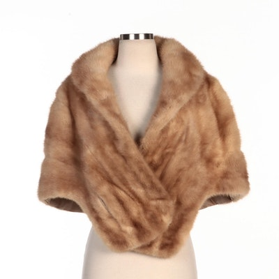 Blonde Mink Fur Stole for Nettie Lee Fashion
