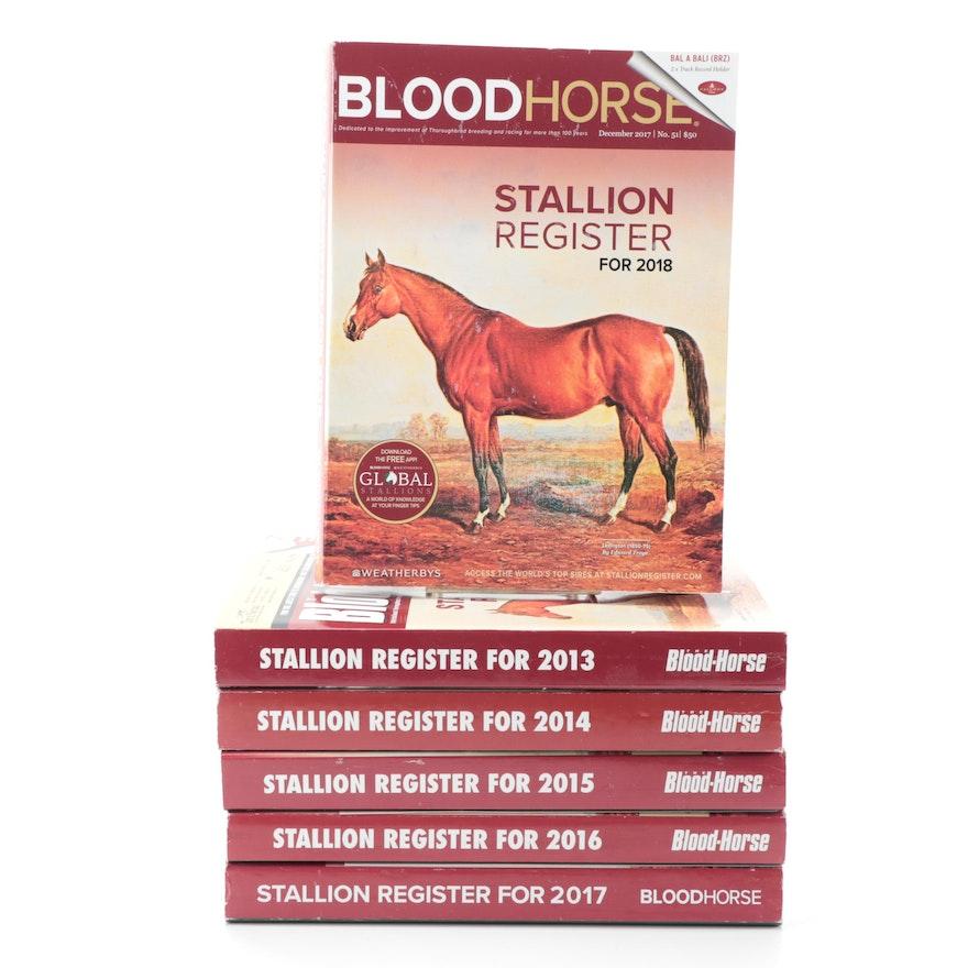 """Blood-Horse"" Stallion Registers, 2013–2018"