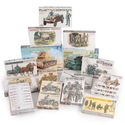 Italeri, Dragon, Tamiya, and DML WWII German Military Model Kits