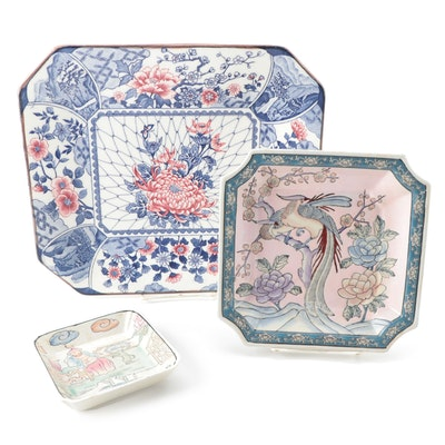 Chinese Macao and Other Japanese Style Porcelain Dishes , Mid-Late 20th Century