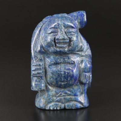 Carved Lapis Lazuli Budai