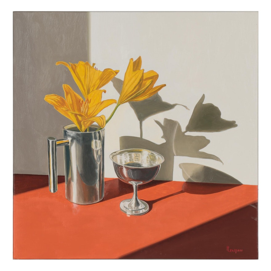 """Peter Lentini Still Life Oil Painting """"Nascent"""""""