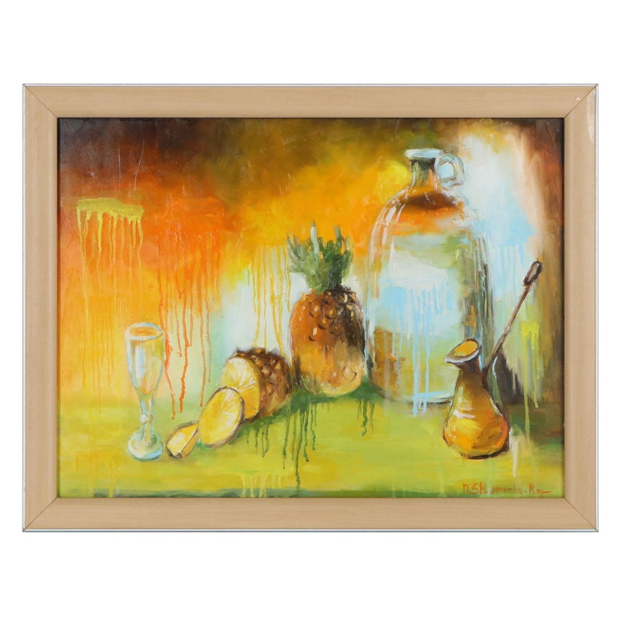"Nataliya Shlomenko Oil Painting ""Still Life,"" 2020"