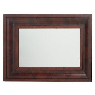 William and Mary Style Cross-Grain Mahogany Veneer Cushion Mirror