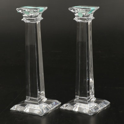 """Pair of Tiffany & Co. """"Classic"""" Crystal Candlesticks"""
